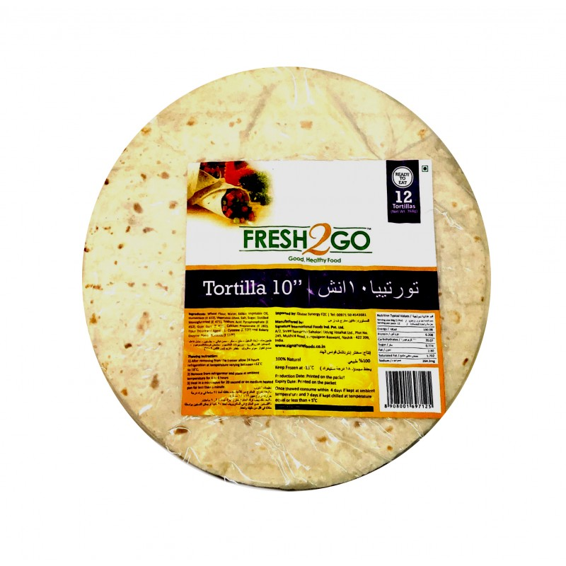 FROZEN TORTILLA 10 INCH-12 Pieces/Packet(64 Gms/Piece)