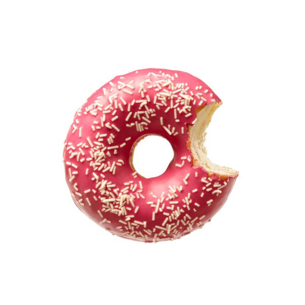 La Lorraine Funfetti- Donut Strawberry Taste & Chocolate deco - 4 x 56grams Donuts/Pack