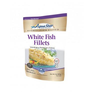 Aqua Star White Fish Fillets, Boneless, Skinless, Individually Vacuum Packed - 907g