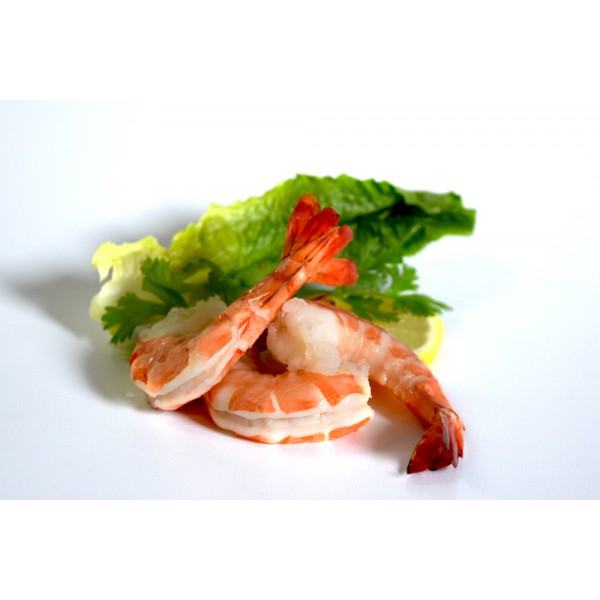 Frozen LARGE -Cooked PD Tail-On Shrimp-500 Gm