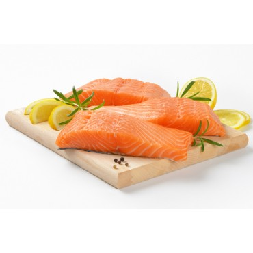 SALMON PORTIONS CHILE - SKIN ON -500 Gm